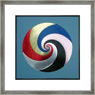 Framed Print featuring the mixed media Pinwheel by Ron Davidson
