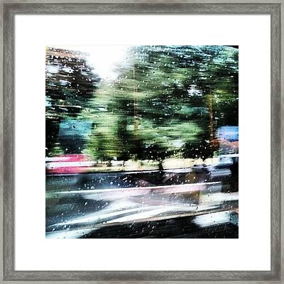 #pioggia #abstract #rain #astratto Framed Print