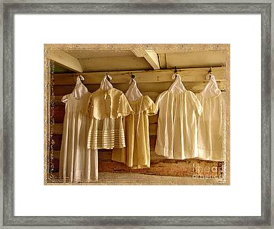 Pioneer Days-child's Dresses Framed Print