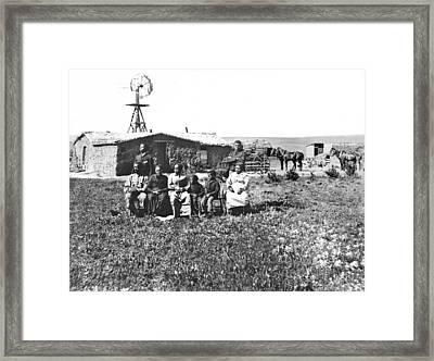 Pioneer Family Portrait Framed Print