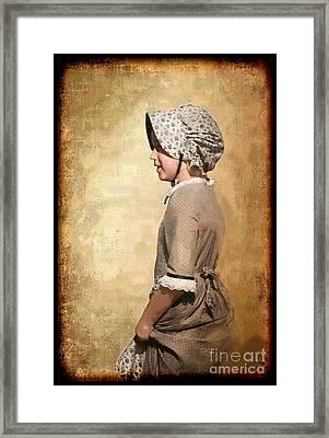Pioneer Girl Framed Print by Betty LaRue