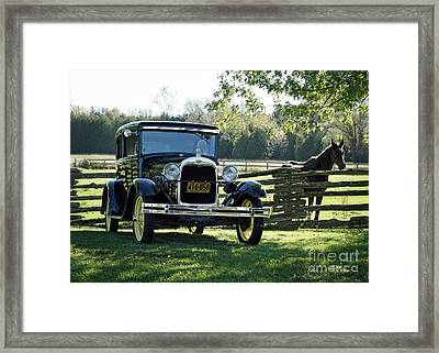 Pioneer Modes Of Transportation From The Early 1900's Framed Print by Inspired Nature Photography Fine Art Photography
