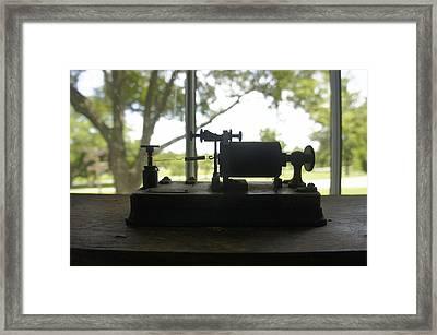Pioneer Park Telegraph Framed Print