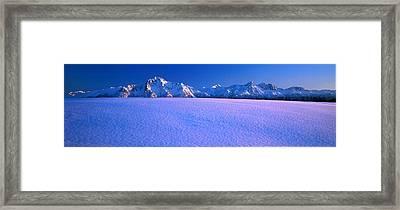 Pioneer Pk Chugach Mts Ak Usa Framed Print