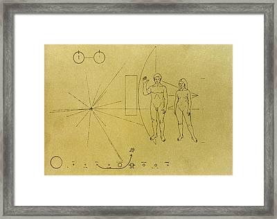 Pioneer Plaque, 1972 Framed Print by Granger