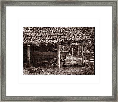 Pioneer Shed Calotype Framed Print