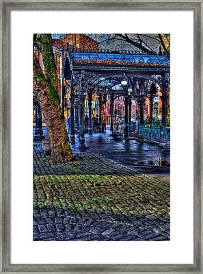 Pioneer Square In Seattle Framed Print