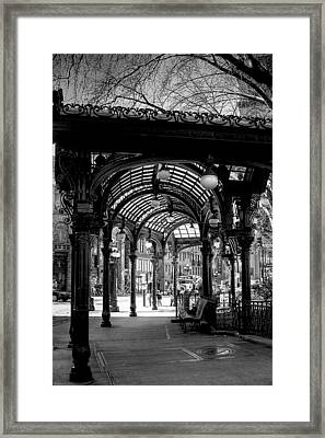 Pioneer Square Pergola Framed Print by David Patterson
