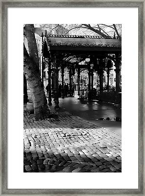 Pioneer Square Pergola II Framed Print by David Patterson
