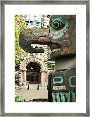 Pioneer Square Seattle Framed Print