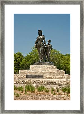 Pioneer Woman Statue, Oklahoma Framed Print by Richard and Ellen Thane