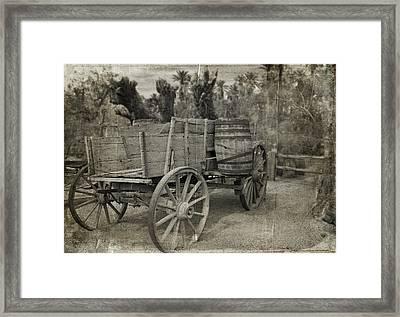 Pioneer Work Wagon Framed Print by Kathleen Scanlan