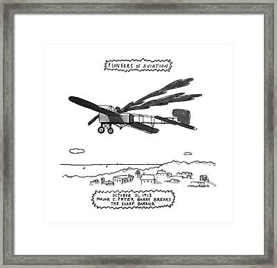 Pioneers Of Aviation October 21 Framed Print by Michael Crawford