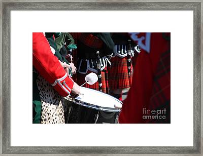 Pipe And Drums Framed Print