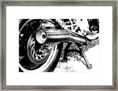 Pipe Black And White Framed Print