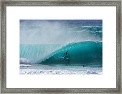 Pipeline Free Surf Framed Print