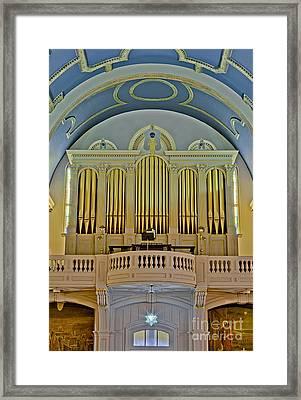 Pipe Organ At Saint Michaels Framed Print by Susan Candelario