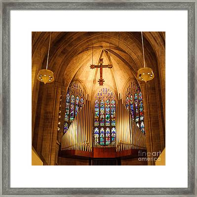 Pipe Organ Framed Print by Grace Grogan