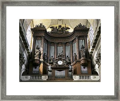 Pipe Organ In St Sulpice Framed Print