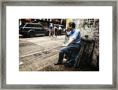 Pipe Pause In Tst Framed Print by Thierry CHRIN