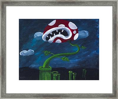 Pipe Piranha Framed Print by Drew Rowe