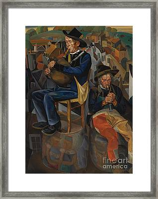 Pipe Players Framed Print by Celestial Images