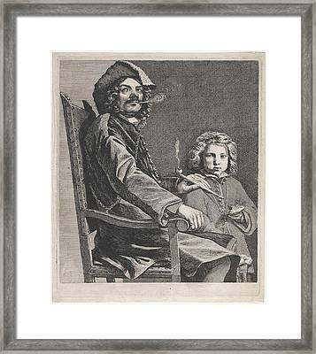 Pipe Smoking Man In Chair, Michael Sweerts Framed Print
