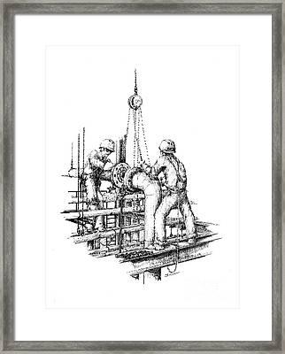 Pipefitters Framed Print by Steve Knapp