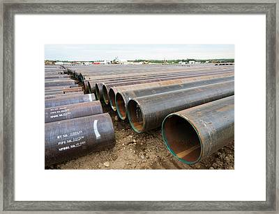 Pipeline Construction Work Framed Print by Ashley Cooper
