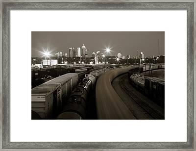 Pipeline To Atlanta Framed Print by Scott Moore