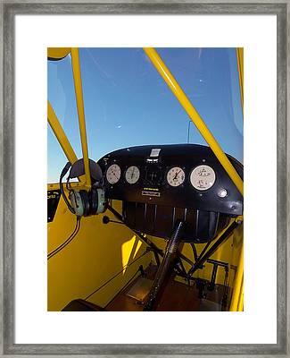 Piper Cub Dash Panel Framed Print by Chris Mercer