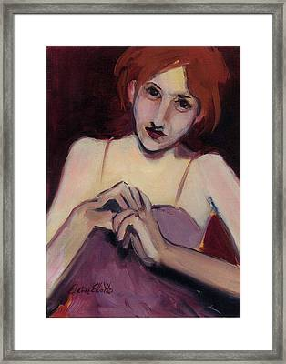 Framed Print featuring the painting Piper by Elaine Elliott