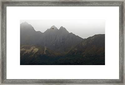 Piper In The Peaks Framed Print