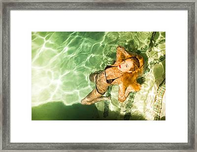 Framed Print featuring the photograph Wet Piper Precious No73-5824 by Amyn Nasser