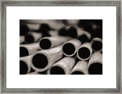 Pipes Framed Print by Arkady Kunysz
