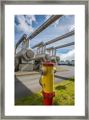 Pipes At Nesjavellir Geothermal Power Framed Print by Panoramic Images