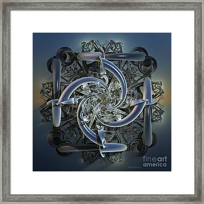Pipes In Blue Framed Print