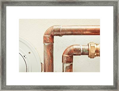 Pipes Framed Print by Tom Gowanlock