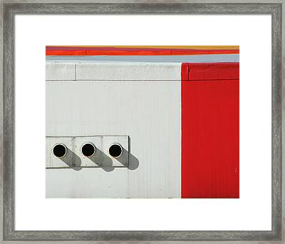 Pipes X 3  Framed Print