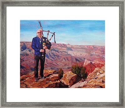 Piping At The Grand Canyon Framed Print