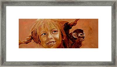 Pippi Longstocking Framed Print