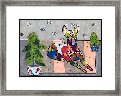 Pippy The Whippet Framed Print