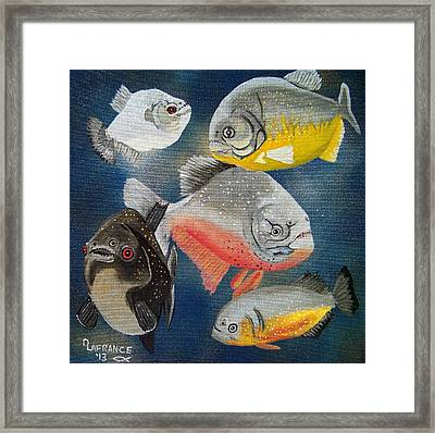 Pirahna  Fish Framed Print by Debbie LaFrance