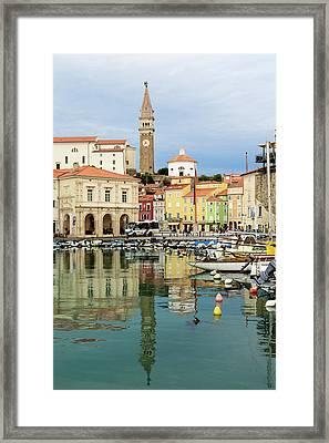 Piran, Primorska, Slovenia. View Framed Print