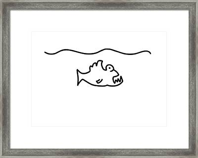 Piranha Bit Fish Teethe Framed Print