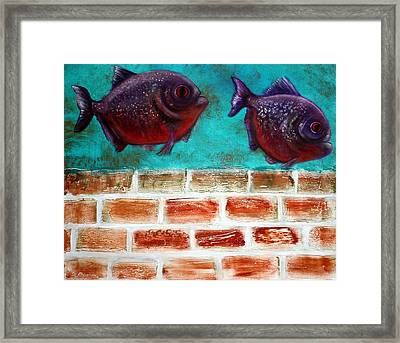Piranha Framed Print by Laura Barbosa