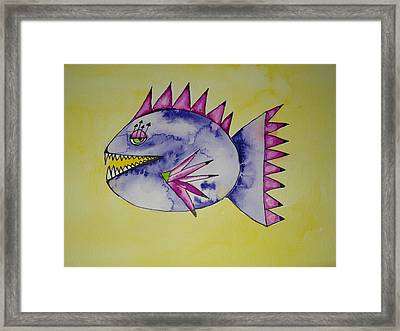 Piranha Framed Print by Michelle Thompson