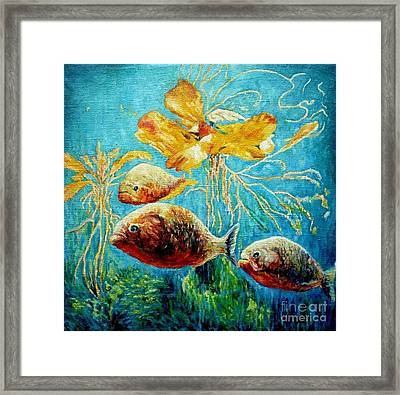 Piranhas Framed Print by Liliya Chernaya