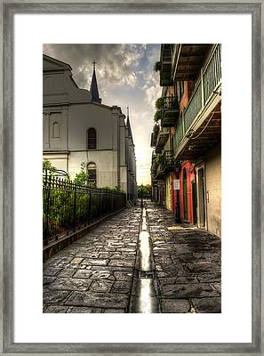 Pirate Alley Framed Print by Greg and Chrystal Mimbs