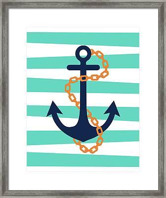 Pirate Anchor II Framed Print